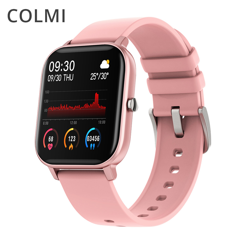 COLMI P8 Smart Watch Women Full Touch Fitness Tracker 7 Days Battery Life Waterproof Smartwatch Men GTS For Xiaomi Phone IPhone
