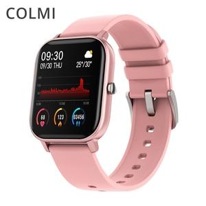 Умные часы COLMI P8, женские, полностью сенсорные, фитнес-трекер, 7 дней автономной работы, водонепроницаемые, мужские, GTS, для телефонов Xiaomi, iPhone
