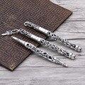 S925 prata esterlina caneta esferográfica novo estilo legal espada eterno rattan assinatura caneta homens e mulheres negócios presentes finos