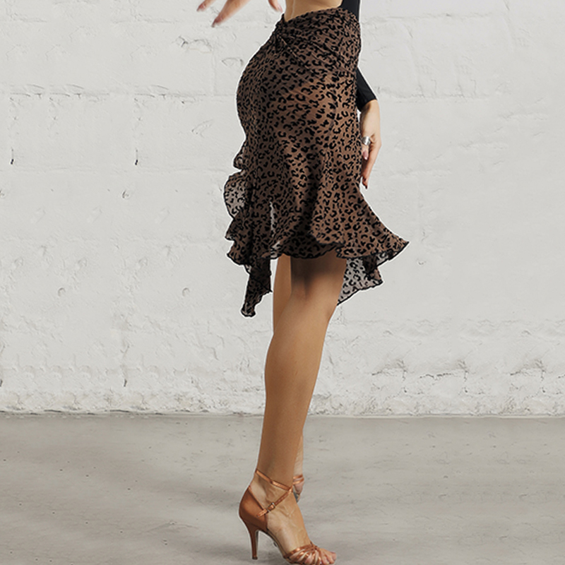 Latin Dance Skirt Women Black High Slit Skirt Ladies Practice Clothes Ballroom Samba Salsa Performance Dancing Wear DNV12362