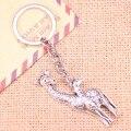 Новинка, модный брелок для ключей 54x22 мм, подвески в виде жирафа, оленя, мужские украшения «сделай сам», брелок для автомобильных ключей, суве...
