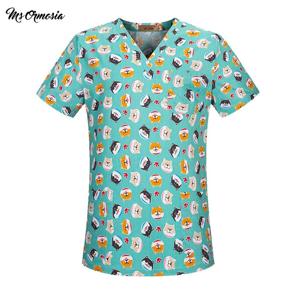 Unisex Hospital Medical Scrub Clothes Spa Uniform Beauty Salon Sets Dental Clinic Nurse Uniform Fashion Surgical Top Women S-2XL