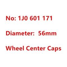 4 шт. 1J0 601 171 56 мм черный, серебристый цвет логотипа авто крышки обода пылезащитное покрытие эмблемы хаб Крышка для центра колеса стайлинга ав...