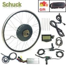 SCHUCK Elektrische Bike Conversion Kit 48V1000W Hinten RAD MIT LCD3 Display Elektrische Fahrrad Leistungsstarke Motor mit sprach und felge
