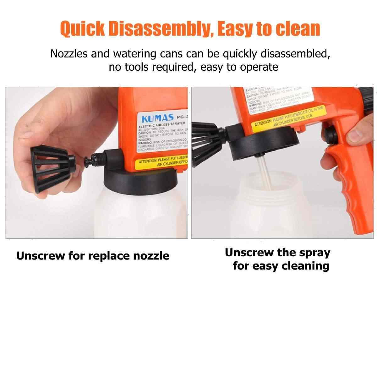 220V büyük kapasiteli elektrikli boya püskürtme tabancası havasız el püskürtme tabancası boyama için evler/garajlar/güverte/mobilya