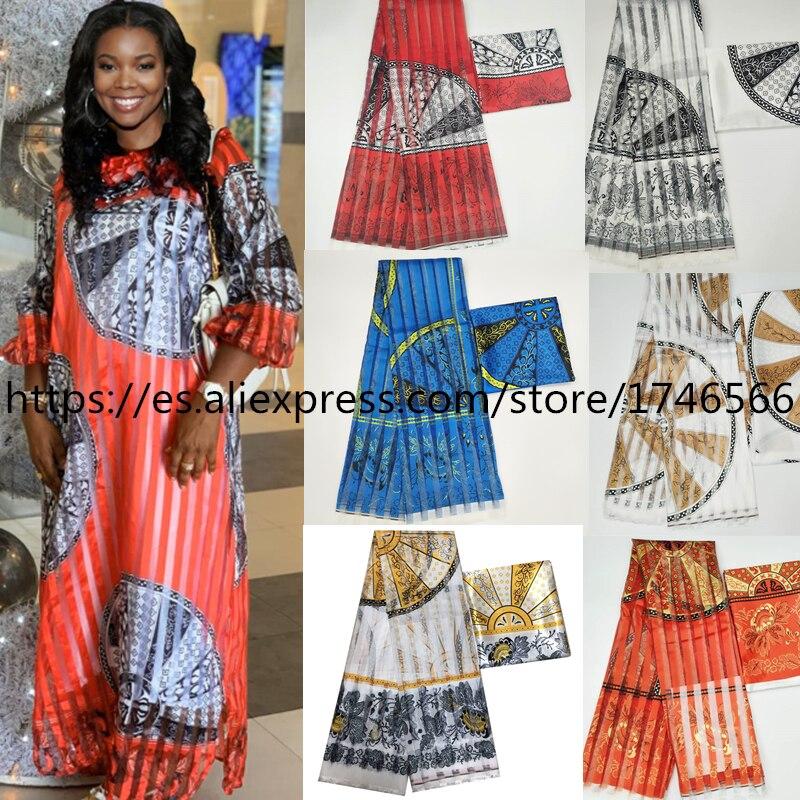 Vendita calda Ghana Stile raso di seta tessuto con del nastro del organza Africano della cera disegno!