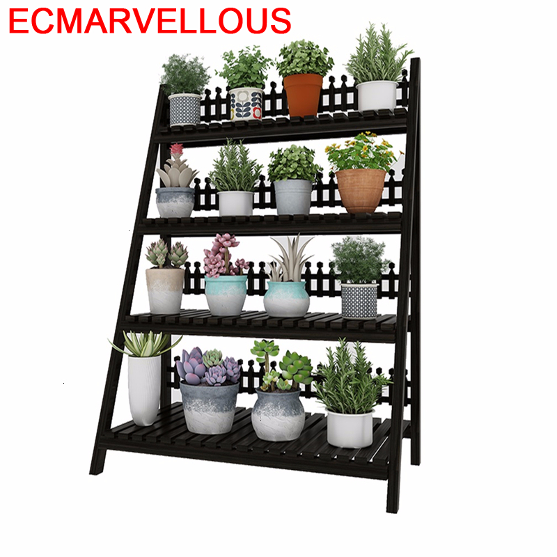 Wooden Shelves For Wood Estanteria Escalera Indoor Mueble Para Plantas Pot Balcony Flower Shelf Dekoration Rack Plant Stand