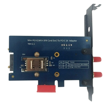 Mini PCI-E PCI Express to PCI-E 1X Adapter with SIM Card Slot for 3G/4G/LTE and WiFi
