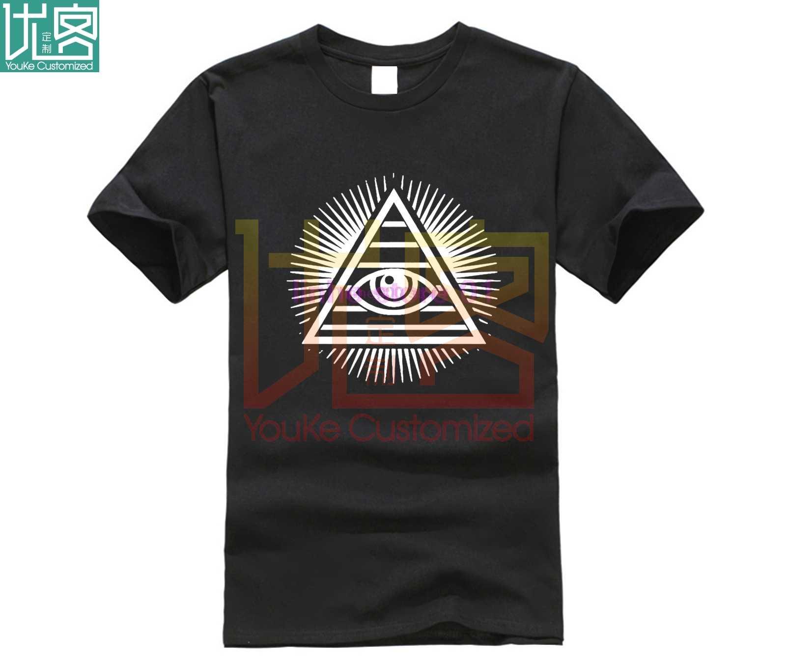 Disobey NEW WORLD ORDER T เสื้อด้านบน Anonymous Revolution Illuminati 4chan Eye แฟชั่นผู้ชายพิมพ์ T เสื้อ