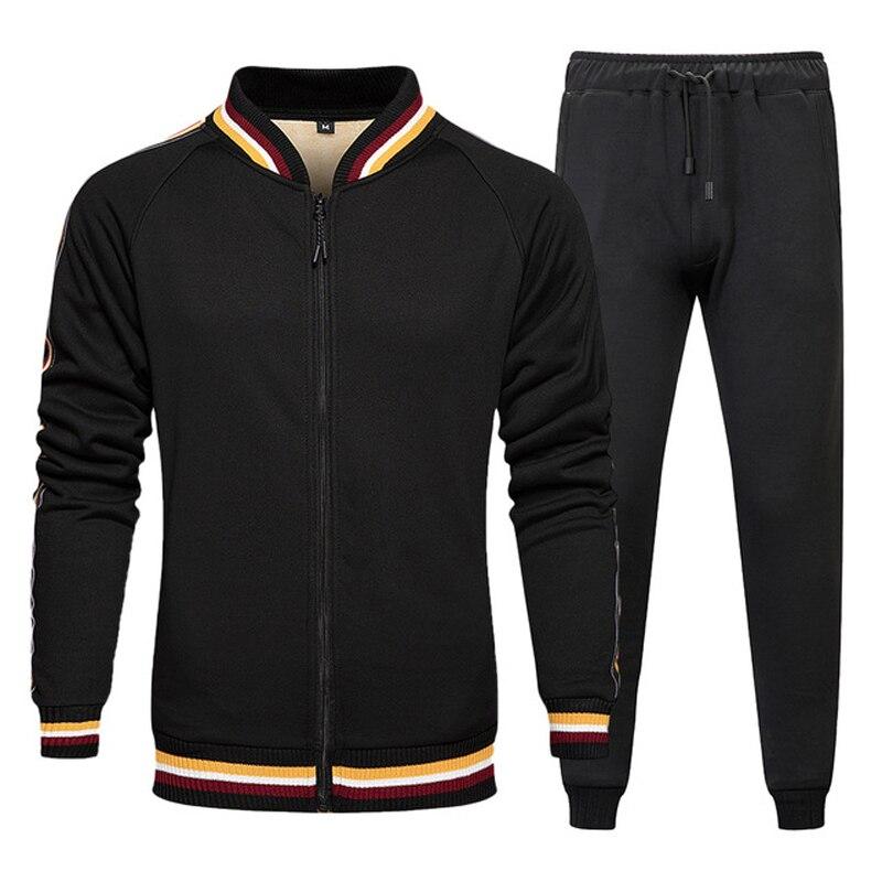 Чоловіки Встановлює фліс Теплий куртки та стрічки 2 штук Спортивний одяг Зимовий одяг Мода Повсякденна спортивна одяг Плюс Розмір