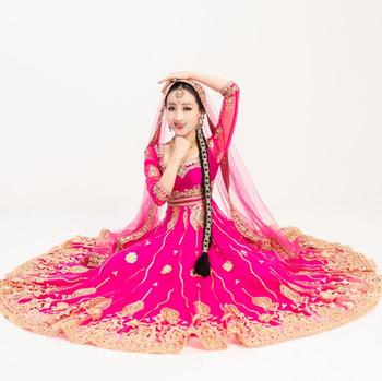Dancing Performance Salwar Kameez Dress Bride Beautiful Ethnic Style Embroideried Sets