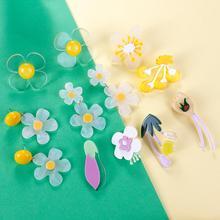 Lifefontier Korean Design Acrylic Earrings Big Flowers Drop Earrings for Women Sweet Transparent Flower Floral Earrings Jewelry цена 2017
