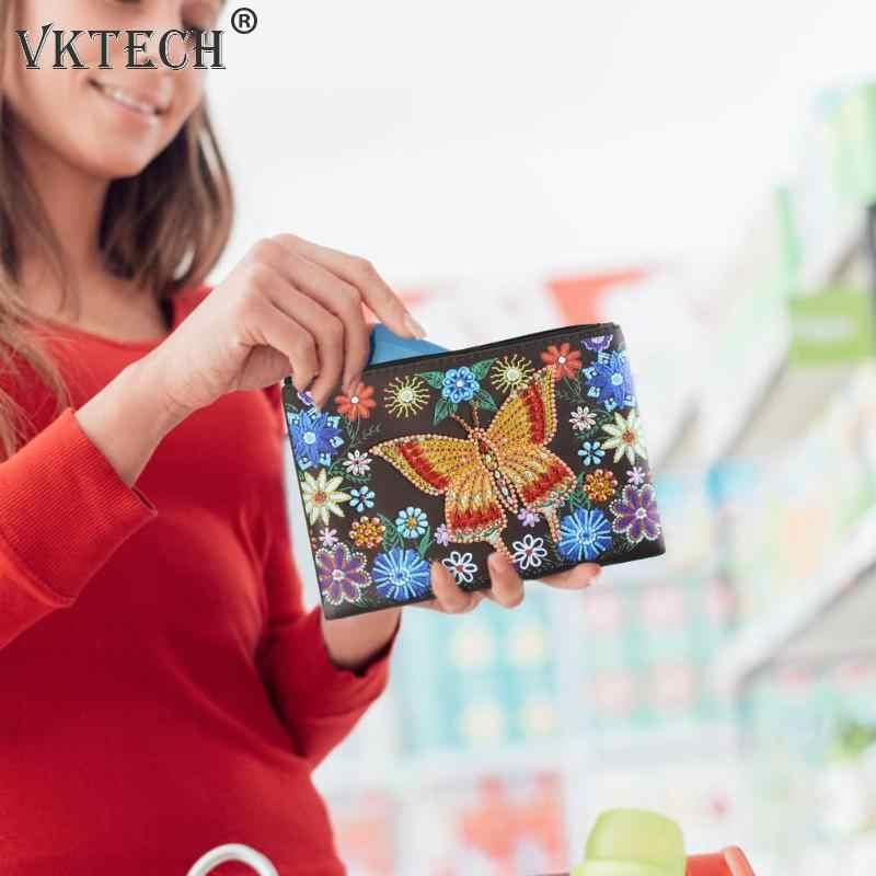 DIY מיוחד בצורת יהלום ציור Wristlet ארנק יהלומי ציור רקמת תפר צלב ארנק עבור נשים חג המולד מתנות