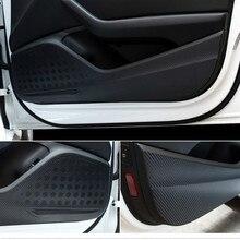 Car Door Anti Kick Pad Protection Decals For Audi A3 Q3 Q5 Q7 Carbon Fiber Stickers Auto Interior Accessories 1 pc carbon fiber car interior trim control panel stickers for audi q5 10 17