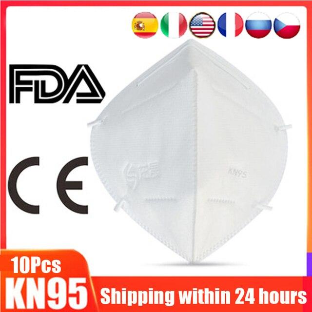 Hot Sale Free Shipping 5/10pcs N95 FFP3 FFP2 Mask 5 Layer Flu Anti Fog Protective Masks Respirator PM2.5 Safety Protection N99 2