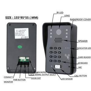 "Image 2 - اللمس مفتاح 7 ""Lcd تتفاعل كلمة السر فيديو باب الهاتف نظام اتصال داخلي عدة الكهربائية سترايك قفل اللاسلكية التحكم عن بعد فتح"