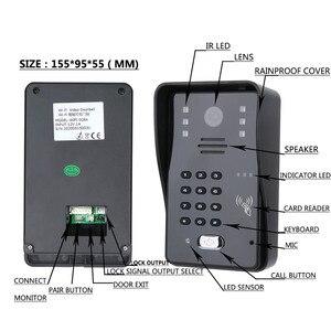 Image 2 - Système dinterphone vidéo avec écran Lcd 7 pouces, écran tactile, système dinterphone RFID pour mot de passe, déverrouillage électrique, télécommande sans fil