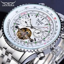 Jaragar Fashion Mens Mechanical Watch Tourbillon Automatic White Date Display Stainless Steel Strap Military Sport Clock Relojes все цены