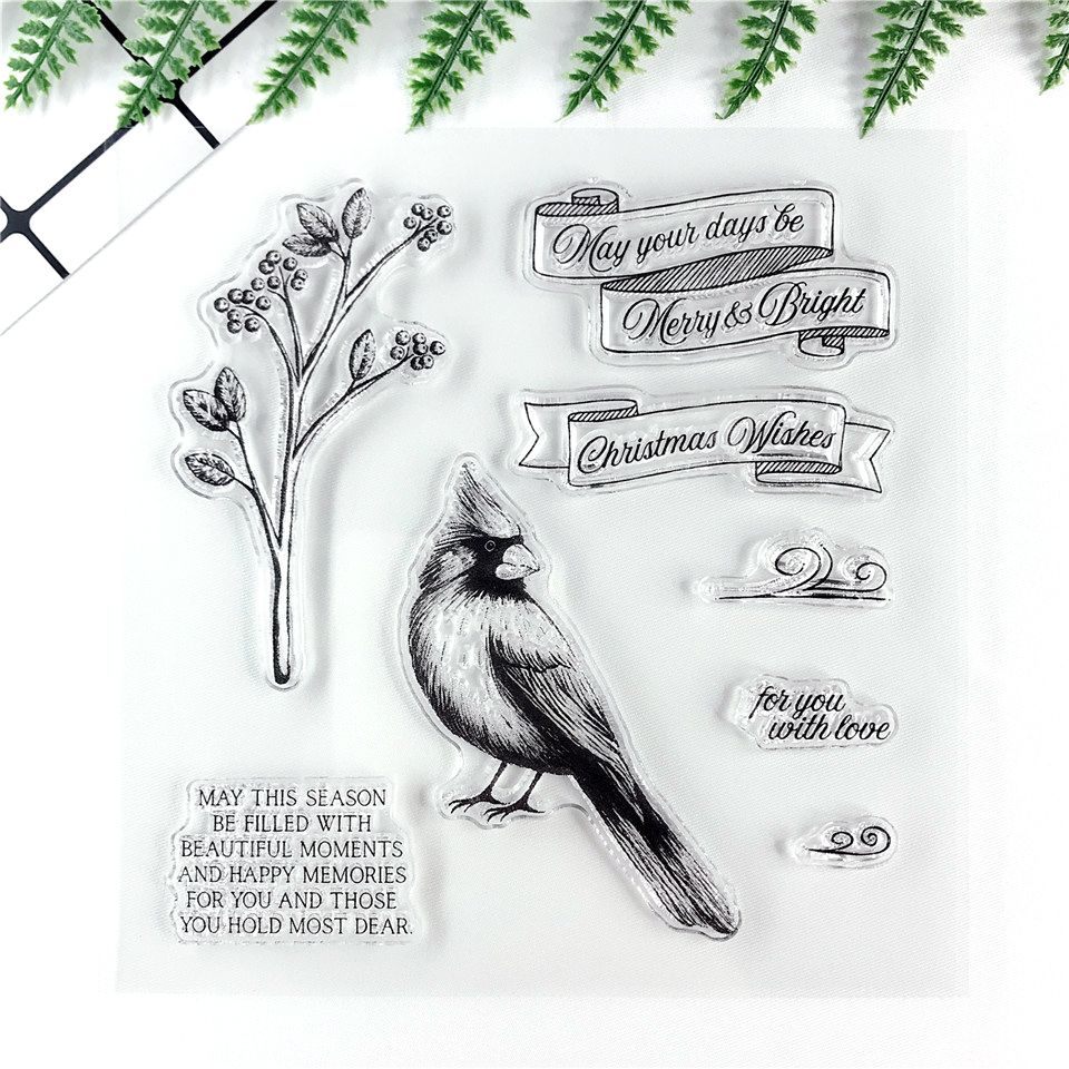 Silicone Bird Clear Stamps Transparent Seals Scrapbooking Photo Abum Making DIY