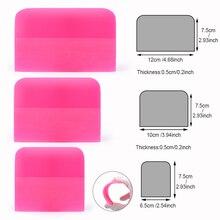 Foshio 3個ソフトppfスクレーパースキージビニールラップ炭素繊維フィルムステッカー貼りツール車ラップウィンドウ色合いクリーニングツール