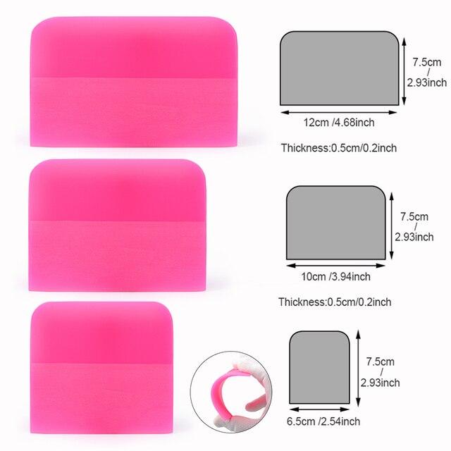 Foshio 3Pcs Zachte Ppf Schraper Zuigmond Vinyl Wrapping Carbon Fiber Film Sticker Plakken Tool Auto Wrap Window Tint Schoonmaken tool