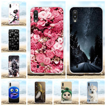 For Samsung Galaxy M10 Case Soft TPU SM-M105F Cover Flowers Patterned Bumper Funda