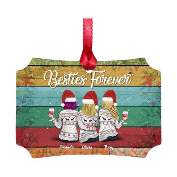 (Single-sided hard paper) Forever sisters and friends decorate Christmas ornaments one side Square DIY personality Forever F4 image