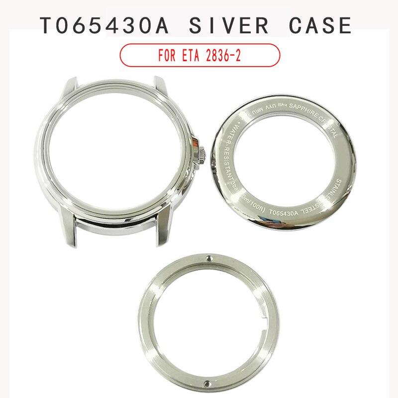 Relógio de Texto Mãos para T065430a Assista Dial Case Masculino Mecânico T065 Acessórios Relógio T065430 Peças Reparo 31.7mm