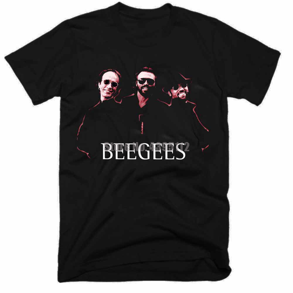 Bee Gees Movie Mens Tee Shirt Fitness Clothing T Shirts Cool Logo T-Shirt 100% Cotton T-Shirts Short Shirts For Men