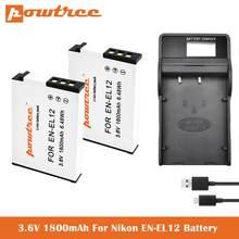 EN-EL12 ENEL12 сменный аккумулятор + зарядное устройство для Nikon Coolpix A1000 B600 W300 A900 AW100 AW110 AW120 AW130 S6300 S8100 S8200 S905