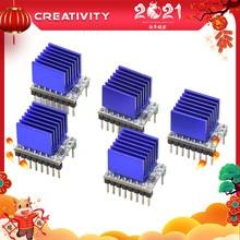 Criatividade 5 pçs mks tmc2208 2208 peças de impressora stepstick driver motor passo 3d ultra silencioso para sgen_l gen_l robin nano