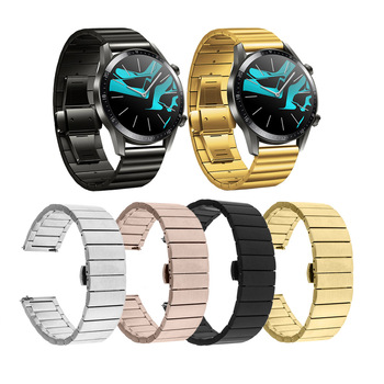 Watch Band Strap For Huawei Watch GT 2 46mm Metal stainless steel Butterfly Buckle Wrist strap For Huawei GT 42mm Replacement metal wrist strap for huawei watch gt 2 46mm 42mm gt active band bracelet for honor magic replaceable accessories watchbands
