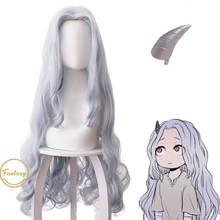 Anime My Hero Academia Eri Chisaki Woman Gray Blue Wig Cosplay Heat Resistant Synthetic Wigs+free Wig Cap