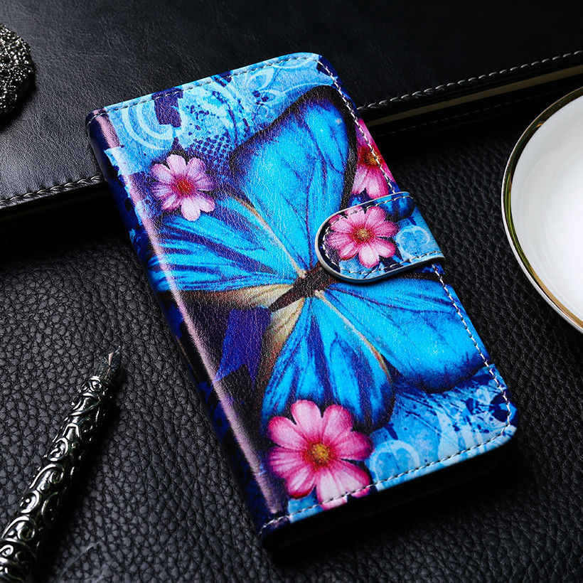 Stand Fip Case For Leagoo M5 Plus 5.5 inch Mobile Phone Cover Bag Coque Cellphone Housing Shell Skin Holster diy Paint
