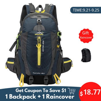 Waterproof Climbing Backpack Rucksack 40L Outdoor Sports Bag Travel Backpack Camping Hiking Backpack Women Trekking Bag For Men backpack rucksack waterproof climbing 40l outdoor sports bag travel camping hiking backpack women daypack trekking bags for men