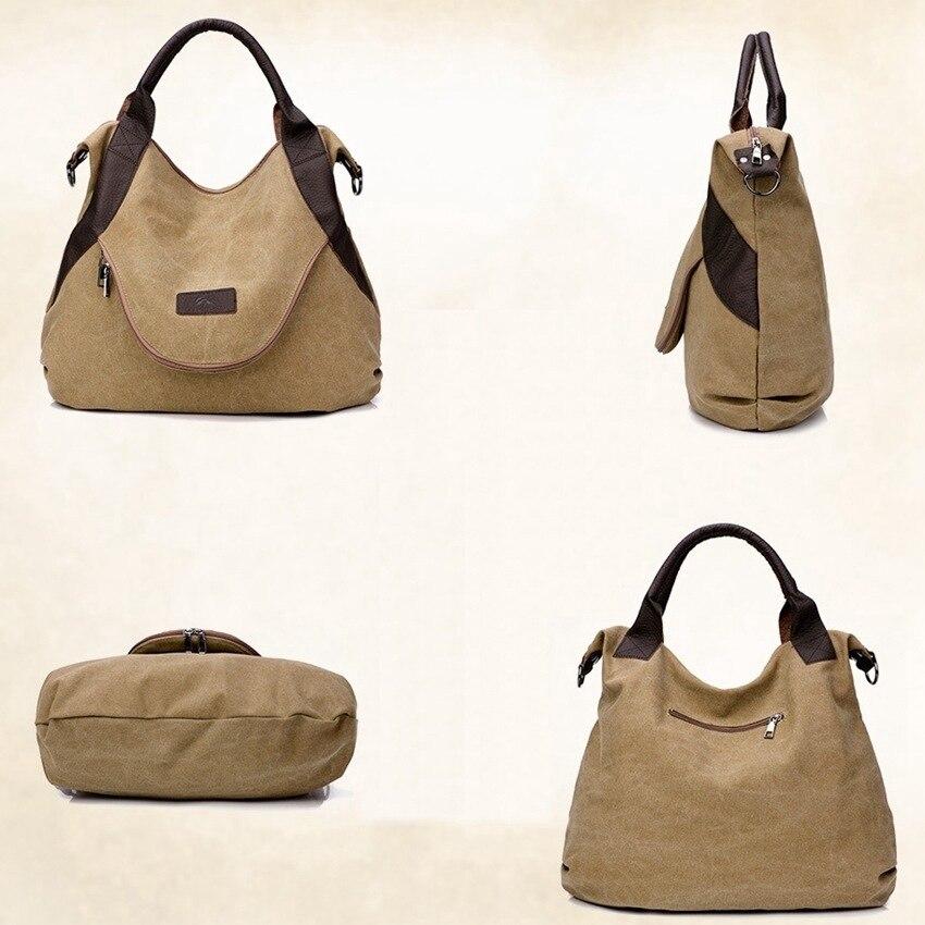 JNKET Fashion Retro Large Capacity Women's Canvas Handbag Shoulder Bag Tote Bag Canvas Messenger Bag Travel Satchel Bag Purse