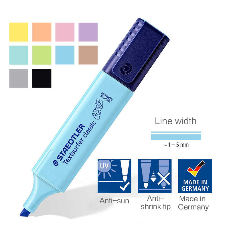 1PC STAEDTLER Highlighter Schräge Marker Stift Kinder Graffiti kugel journal Marker Stift note stift Student schule liefert
