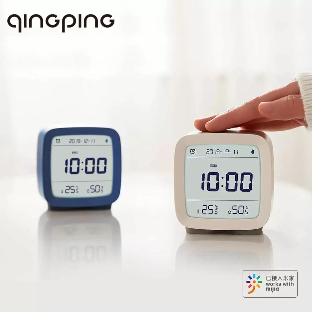 Cleargrass Qingping Bluetooth Digital Thermometer Temperature Humidity Monitoring Night Light Alarm Clock Work With Mijia App