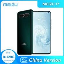 Meizu 17 8gb 128g celular 5g smartphone snapdragon 865 octa núcleo nfc 4500mah 30w carregador rápido china versão