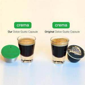 Image 4 - Многоразовая Капсульная чашка из нержавеющей стали, совместимая с многоразовым фильтром для кофе Dolce Gusto, экологически чистый пищевой фильтр для кофе