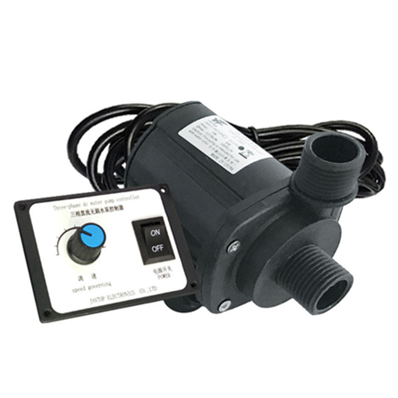 800L/h Mini DC 12V 24V 19W Water Pump 8000rpm 5.5m Lift Brushless Motor Ultra Quiet Submersible Pump For Cooling System
