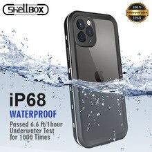 IP68 مقاوم للماء الحال بالنسبة آيفون 12 برو 7 8 Plus X XR حافظة تحت الماء الغوص غطاء مقاوم للصدمات ل iPhone11 برو ماكس 360 كامل Coque