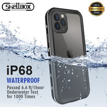 IP68 방수 케이스 For iPhone 12 Pro 7 8 Plus X XR 케이스 iPhone11 Pro Max 360 Full Coque 용 수중 다이빙 충격 방지 커버