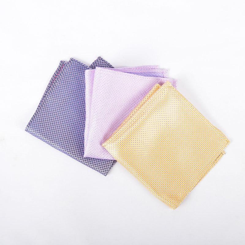 Men Suit Pocket Square Kerchief Jacquard Silk Kerchief