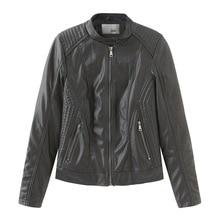 Ozhouzhan, весенне-осеннее женское кожаное пальто, женская кожаная куртка, приталенное маленькое пальто