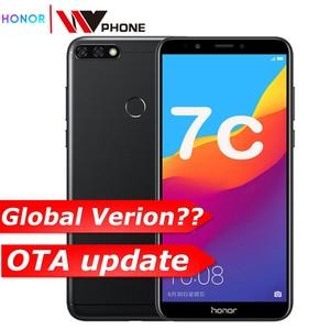Image 1 - Originele Honor 7C 5.99 Inch Snapdragon 450 Octa Core Front 8.0MP Dual Achteruitrijcamera 3000 Mah Vingerafdruk