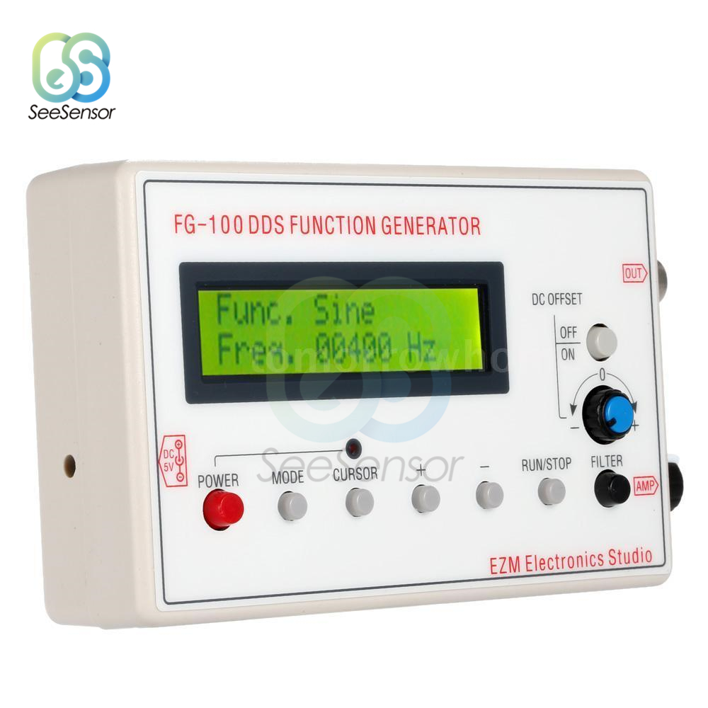 DDS генератор сигналов 1602 ЖК-дисплей 1 Гц-500 кГц функциональная Синусоидальная треугольная квадратная частота Sawtooth Wave Waveform