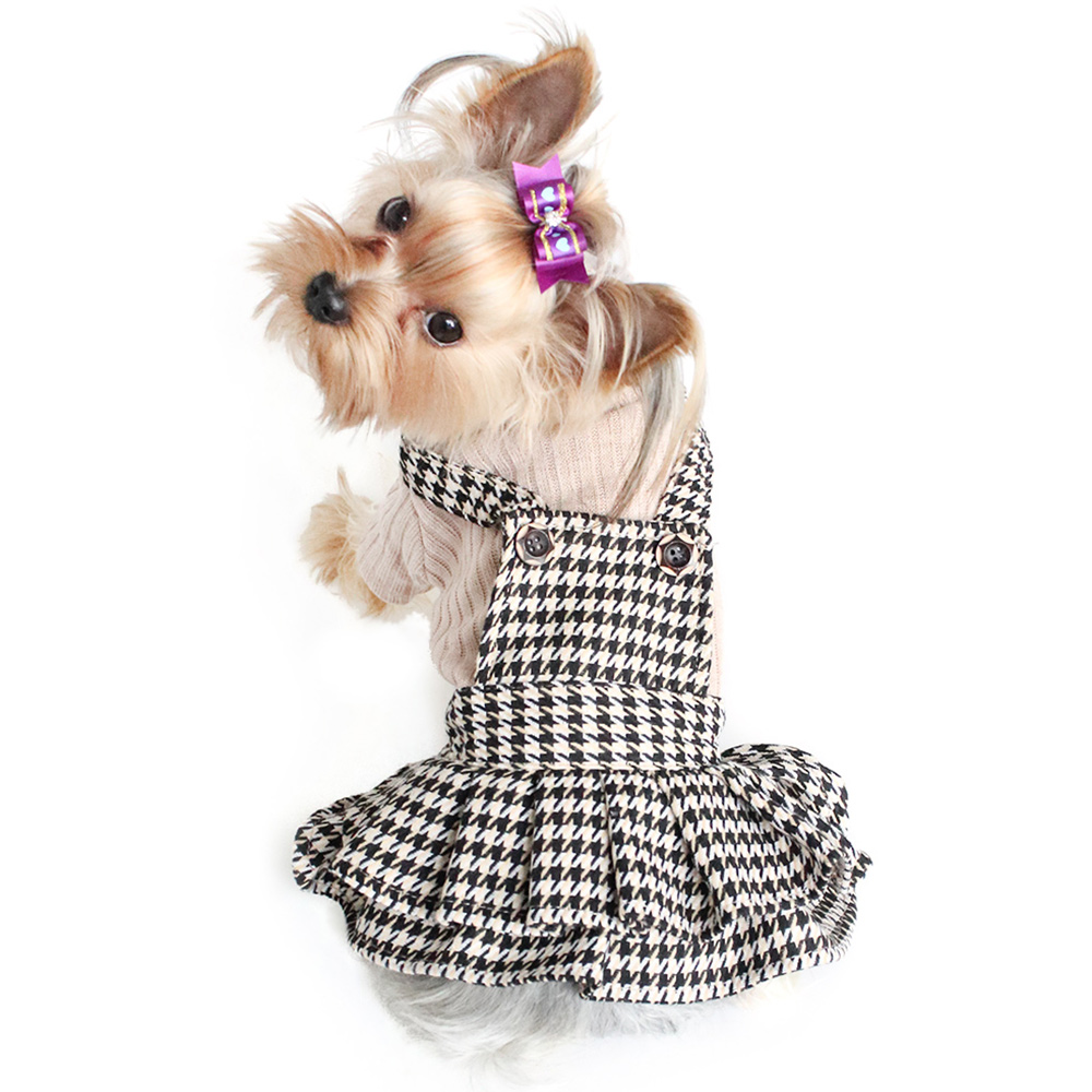 <font><b>Dog</b></font> <font><b>Dresses</b></font> Strap Design Autumn <font><b>Winter</b></font> Princess Sweater <font><b>Dress</b></font> For <font><b>Dogs</b></font> 6072019 Pet Clothing Supplies image