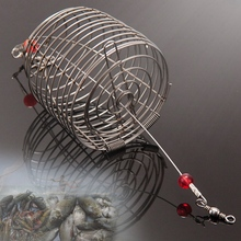 Fishing Bait Trap Cage Feeder Basket Lures Accessories 5 PCS.