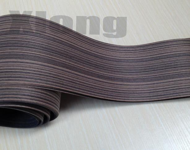 2Pieces/Lot L: 2.5Meters Thickness:0.25mm Width: 15cm Black Zebra Furniture Wood Veneer Door Speaker Wood Veneer Edge